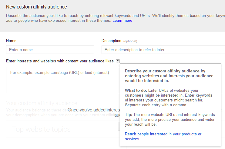 custom-affinity-audience-adwords